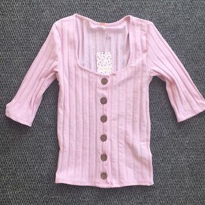 Free People button down sweater shirt size Small
